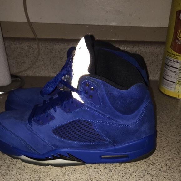 Jordan Shoes   Jordan Blue Suede 5s
